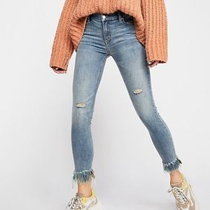 Free People We the Free Great Heights frayed jeans